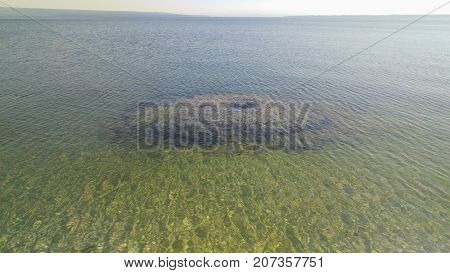 An underwater thermal feature in the west thumb of Yellowstone Lake.