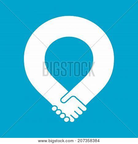 Handshake loop, friendship and partnership icon, unity symbol, vector illustration