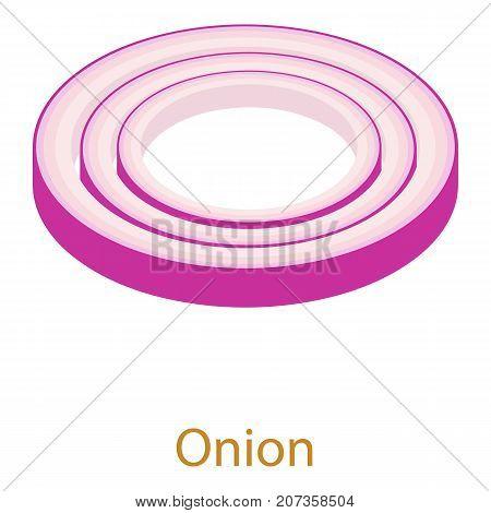 Onion icon. Isometric illustration of onion icon for web