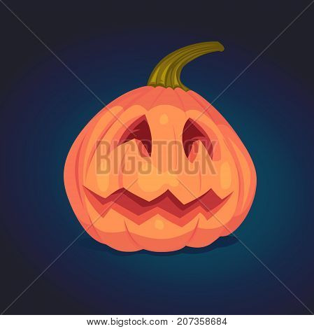 Spooky Halloween Pumpkin. Vector Illustration.