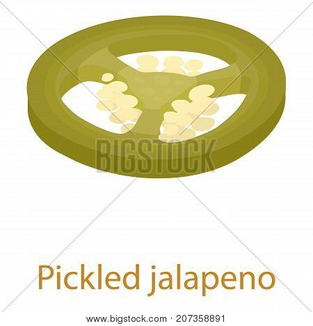 Pickled jalapeno icon. Isometric illustration of pickled jalapeno icon for web