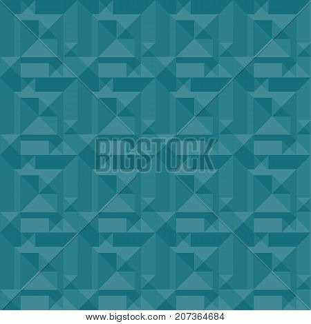 Green background vector illustration. seamless pattern for surface design in web and print. geometry marine ocean color repeatable abstract motive