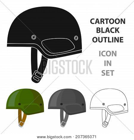 Army helmet icon in cartoon style isolated on white background. Military and army symbol vector illustration