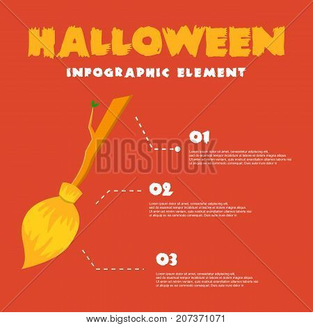 Vector Art Halloween Infographic Style Collection Stock