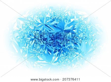Winter blue frost pattern on white background. Eps8. RGB Global colors. One editable gradient is used for easy recolor