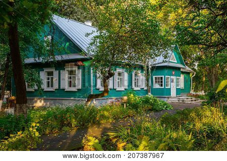 Belarus September 22 2017 old architecture House Museum of the Memory of the First Congress of the Russian Social-Democratic Labor Party (RSDLP) which was held in Minsk editorial