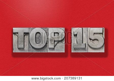 Top 15 On Red