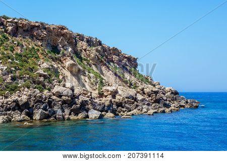 Seronisos Island near Lara Beach, South west coast of Akamas region, Cyprus