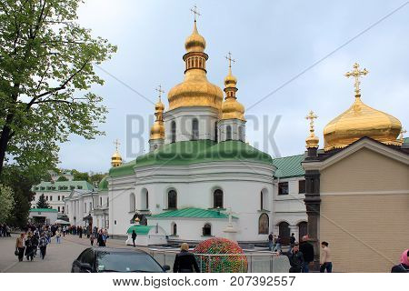 KIEV, UKRAINE - MAY 3, 2011: This is the Holy Cross Temple of the Kiev-Pechersk Lavra.
