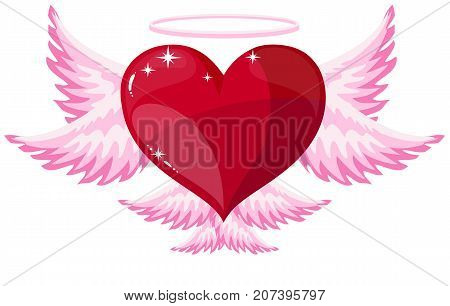 love heart angel icon Angel heart halo holy Love abstract Valentine s Day romantic elegance
