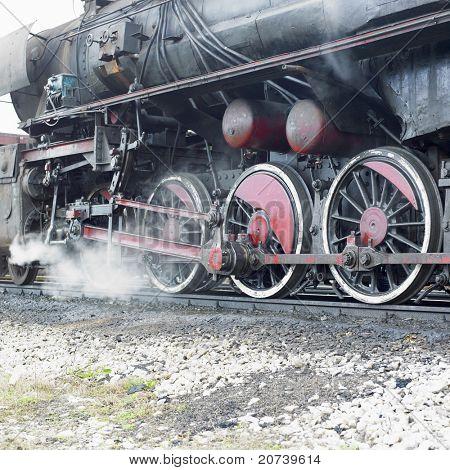 detail of steam locomotive (33-326), Dubrava, Bosnia and Hercegovina poster