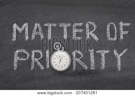 Matter Of Priority Watch