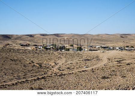 Settlement of modern Bedouins in the Negev desert (Israel)