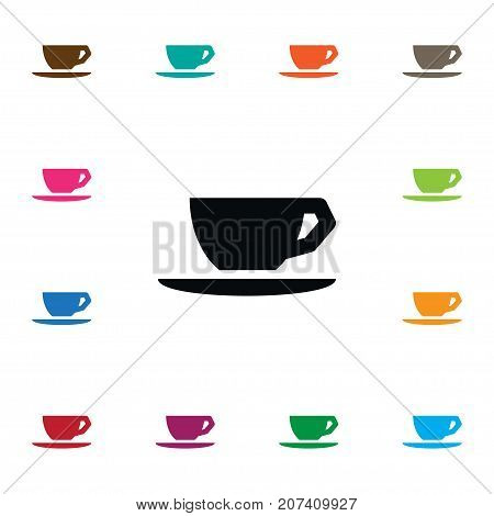 Caffeine Vector Element Can Be Used For Cup, Caffeine, Saucer Design Concept.  Isolated Saucer Icon.