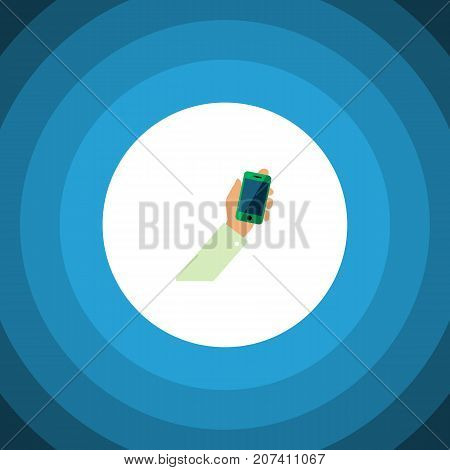 Keep Phone Vector Element Can Be Used For Keep, Phone, Cellphone Design Concept.  Isolated Cellphone Flat Icon.