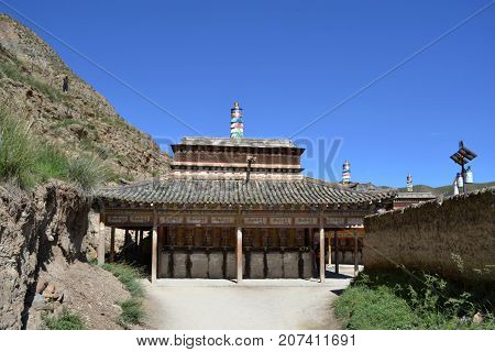The Architecture Around Labrang Monastery In Xiahe, Amdo Tibet