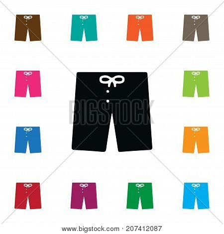 Shorts Vector Element Can Be Used For Shorts, Swimming, Trunks Design Concept.  Isolated Swimming Trunks Icon.
