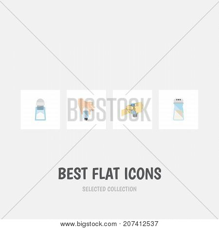 Flat Icon Sodium Set Of Salt, Flavor, Sodium And Other Vector Objects