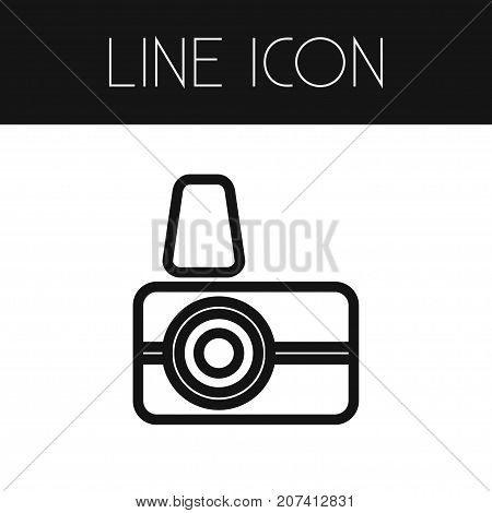 Capture Vector Element Can Be Used For Capture, Photographer, Camera Design Concept.  Isolated Photographer Outline.