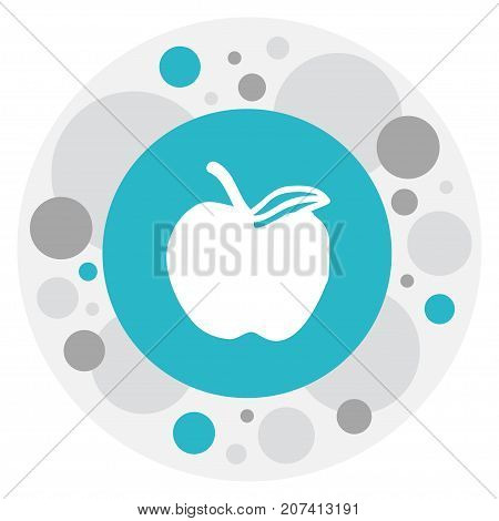 Vector Illustration Of Knowledge Symbol On Fruit Icon