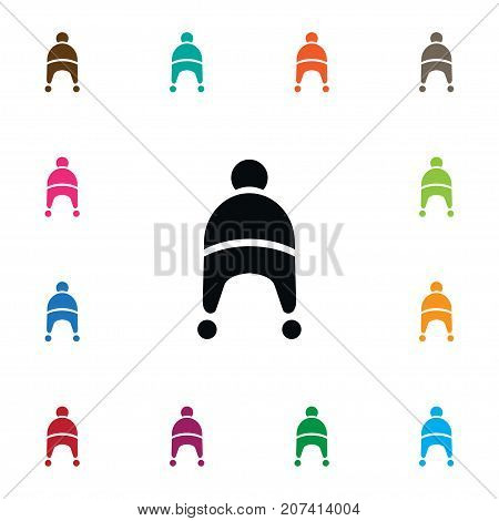 Beanie Vector Element Can Be Used For Winter, Cap, Beanie Design Concept.  Isolated Winter Cap Icon.