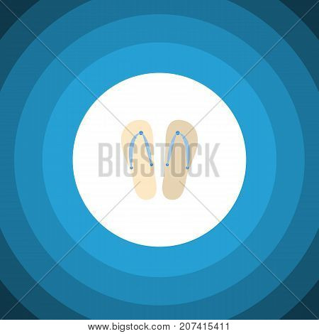 Beach Sandals  Vector Element Can Be Used For Sandals, Flip, Flop Design Concept.  Isolated Flip Flop Flat Icon.