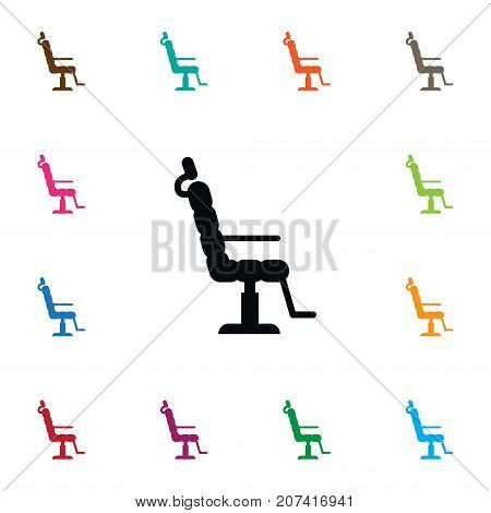 Elbow Chair Vector Element Can Be Used For Elbow, Chair, Barbershop Design Concept.  Isolated Salon Icon.