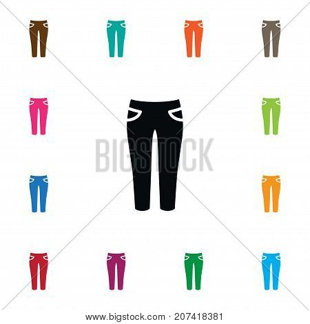 Pantaloons Vector Element Can Be Used For Leggings, Pantaloons, Jeans Design Concept.  Isolated Jeans Icon.