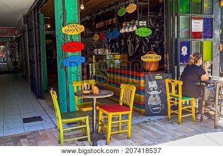 Cafes In Ataturk Boulevard, Antalya