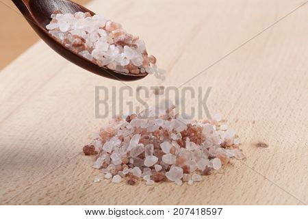 Pouring Pink Salt