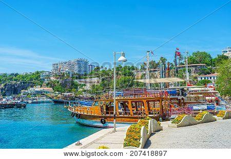 The Pleasure Boats In Antalya