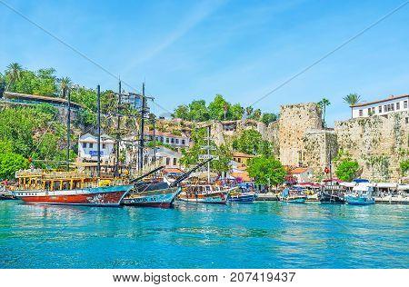 In Antalya Port