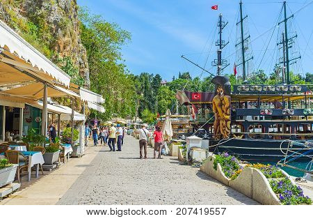 Promenade Of Antalya Old Marina