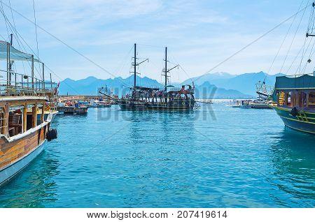 Ships In Antalya Marina