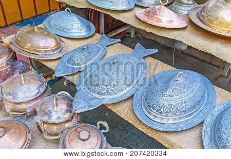 The Metalwork Tableware In Antalya Market