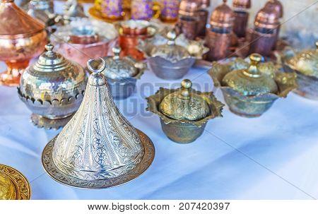 Turkish Metal Sugar Bowls, Antalya Market