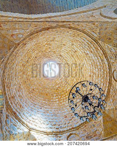 The Stone Dome Of Old Ulu Mosque In Antalya