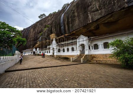 Dambulla cave temple also known as Golden Temple. It is is the largest, best-preserved cave-temple complex in Sri Lanka listed as UNESCO World Heritage site.