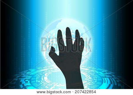 Blue Future Technology Cybercrime Internet Security Threat Background
