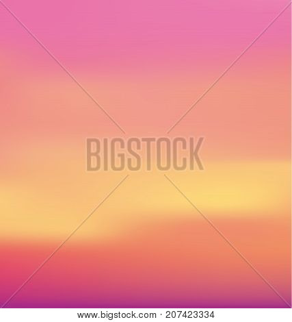 sunrise pastel pink concept background. dawn vector illustration. color gradient design element. Smooth abstract colorful back.