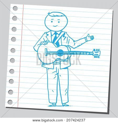 Businessman with guitar