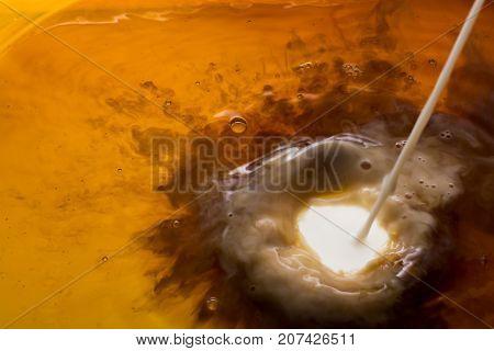 Coffe Dissolve In Hot Water