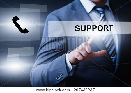 Technical Support Center Customer Service Internet Business Technology Concept.
