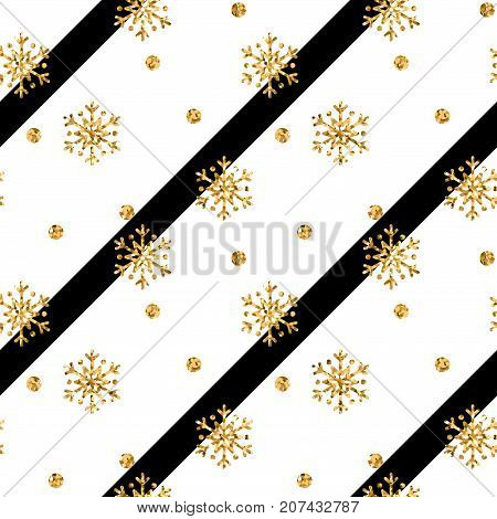 Gold Snowflake Christmas Background