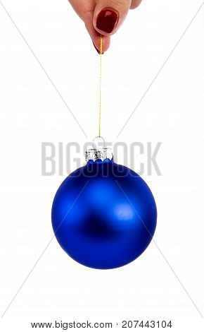 Christmas Tree Decorative Toy Blue Bubble Ball With Sparkles