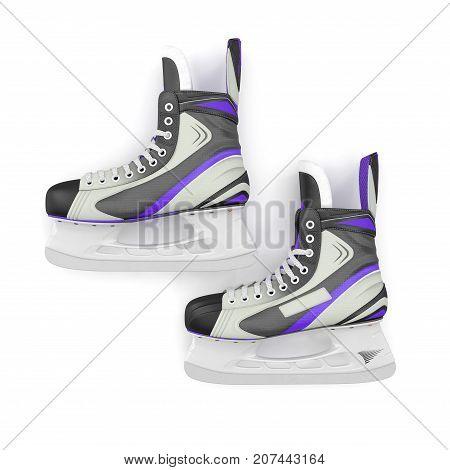 Man's hockey skates. Isolated on white background. 3D illustration
