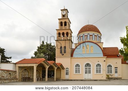 Orthodox church with a dome in the north west of the Orthodox church with a dome in the north west of the island of Crete