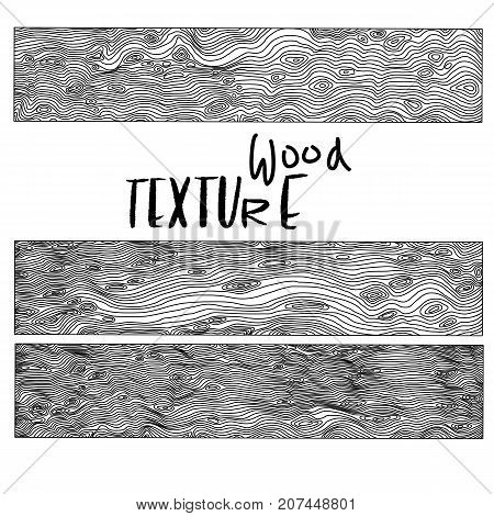 Imitation of wooden background. Vector texture with wood effect. Black and white illustration