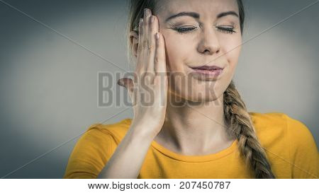 Woman Having Head Ache