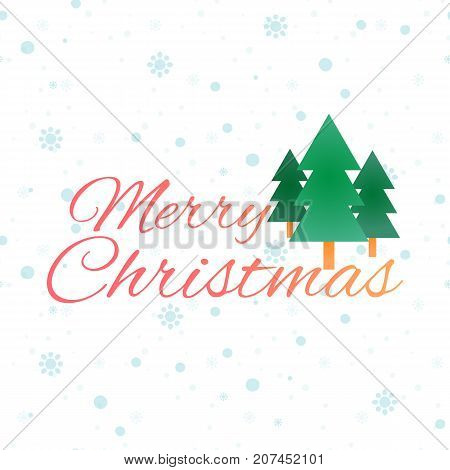 Greeting Christmas card. Illustration on light background